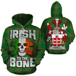 Tirrell Family Crest Ireland National Tartan Irish To The Bone Hoodie