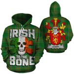 Leahy Family Crest Ireland National Tartan Irish To The Bone Hoodie