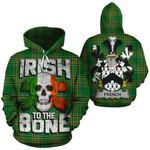 French Family Crest Ireland National Tartan Irish To The Bone Hoodie