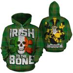 Abraham Family Crest Ireland National Tartan Irish To The Bone Hoodie