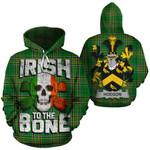 Hodson Family Crest Ireland National Tartan Irish To The Bone Hoodie