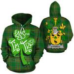 Starkey Family Crest Ireland National Tartan Kiss Me I'm Irish Hoodie
