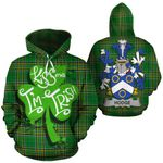 Hodge Family Crest Ireland National Tartan Kiss Me I'm Irish Hoodie