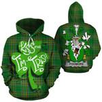 Podmore Family Crest Ireland National Tartan Kiss Me I'm Irish Hoodie