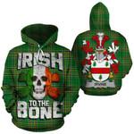 Irvine Family Crest Ireland National Tartan Irish To The Bone Hoodie