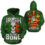 Muschamp Family Crest Ireland National Tartan Irish To The Bone Hoodie