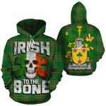 Vandeleur Family Crest Ireland National Tartan Irish To The Bone Hoodie