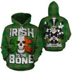 Lewis Family Crest Ireland National Tartan Irish To The Bone Hoodie