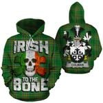 Colman Family Crest Ireland National Tartan Irish To The Bone Hoodie