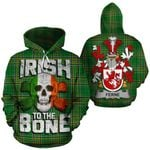Ferne Family Crest Ireland National Tartan Irish To The Bone Hoodie