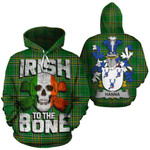Hanna Family Crest Ireland National Tartan Irish To The Bone Hoodie