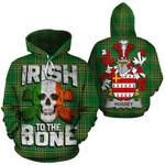 Hussey Family Crest Ireland National Tartan Irish To The Bone Hoodie