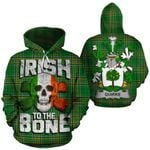 Quirke Family Crest Ireland National Tartan Irish To The Bone Hoodie