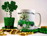 Happy ST. Patrick's Day, Gnome and truck Ceramic Mug TH5