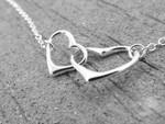Hearts Necklace, Interlocking Hearts Necklace, Mommy and Me Necklace, Simple Hearts Necklace, Silver Heart Necklace, Minimal Heart Necklace TH5