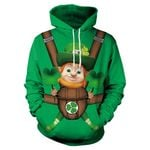 Saint Patrick's Day Green Clover Lucky Grass Couple Hoodie TH5