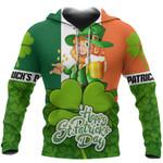 Ireland Hoodie St Patrick's Day - Shamrock TH5