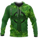 Ireland Hoodie Irish Celtic Cross Shamrock TH5