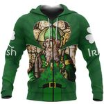 Ireland Zip Hoodie Saint Patrick's Day (Green) TH5