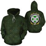 Wakeman Family Crest Ireland Background Gold Symbol Hoodie