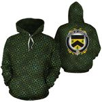 Ouseley Family Crest Ireland Background Gold Symbol Hoodie