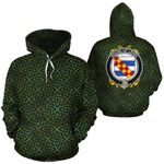 Leigh Family Crest Ireland Background Gold Symbol Hoodie