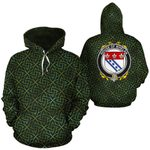 Whelan Family Crest Ireland Background Gold Symbol Hoodie