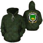O'Rogan Family Crest Ireland Background Gold Symbol Hoodie