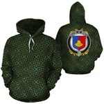 Winch Family Crest Ireland Background Gold Symbol Hoodie