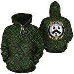 Daunt Family Crest Ireland Background Gold Symbol Hoodie