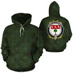O'Hagerty Family Crest Ireland Background Gold Symbol Hoodie