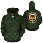 O'Broder Family Crest Ireland Background Gold Symbol Hoodie