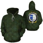 Sheehy Family Crest Ireland Background Gold Symbol Hoodie