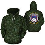 Clinton Family Crest Ireland Background Gold Symbol Hoodie