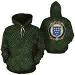 Baillie Family Crest Ireland Background Gold Symbol Hoodie