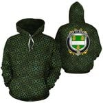 McKenna Family Crest Ireland Background Gold Symbol Hoodie