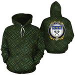 McCourt Family Crest Ireland Background Gold Symbol Hoodie
