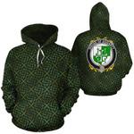 Gogarty Family Crest Ireland Background Gold Symbol Hoodie