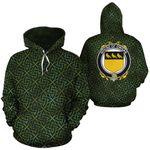 Owgan Family Crest Ireland Background Gold Symbol Hoodie