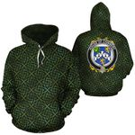 Chinnery Family Crest Ireland Background Gold Symbol Hoodie