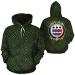Dodwell Family Crest Ireland Background Gold Symbol Hoodie