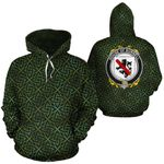 Burnell Family Crest Ireland Background Gold Symbol Hoodie