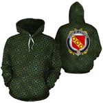 Stephens Family Crest Ireland Background Gold Symbol Hoodie