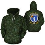Dehany Family Crest Ireland Background Gold Symbol Hoodie