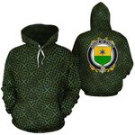 O'Haly Family Crest Ireland Background Gold Symbol Hoodie