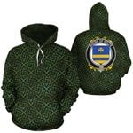 Holte Family Crest Ireland Background Gold Symbol Hoodie