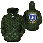 McDowell Family Crest Ireland Background Gold Symbol Hoodie