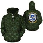 Usher Family Crest Ireland Background Gold Symbol Hoodie