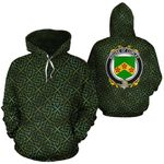 Curley Family Crest Ireland Background Gold Symbol Hoodie