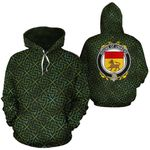 Uniacke Family Crest Ireland Background Gold Symbol Hoodie